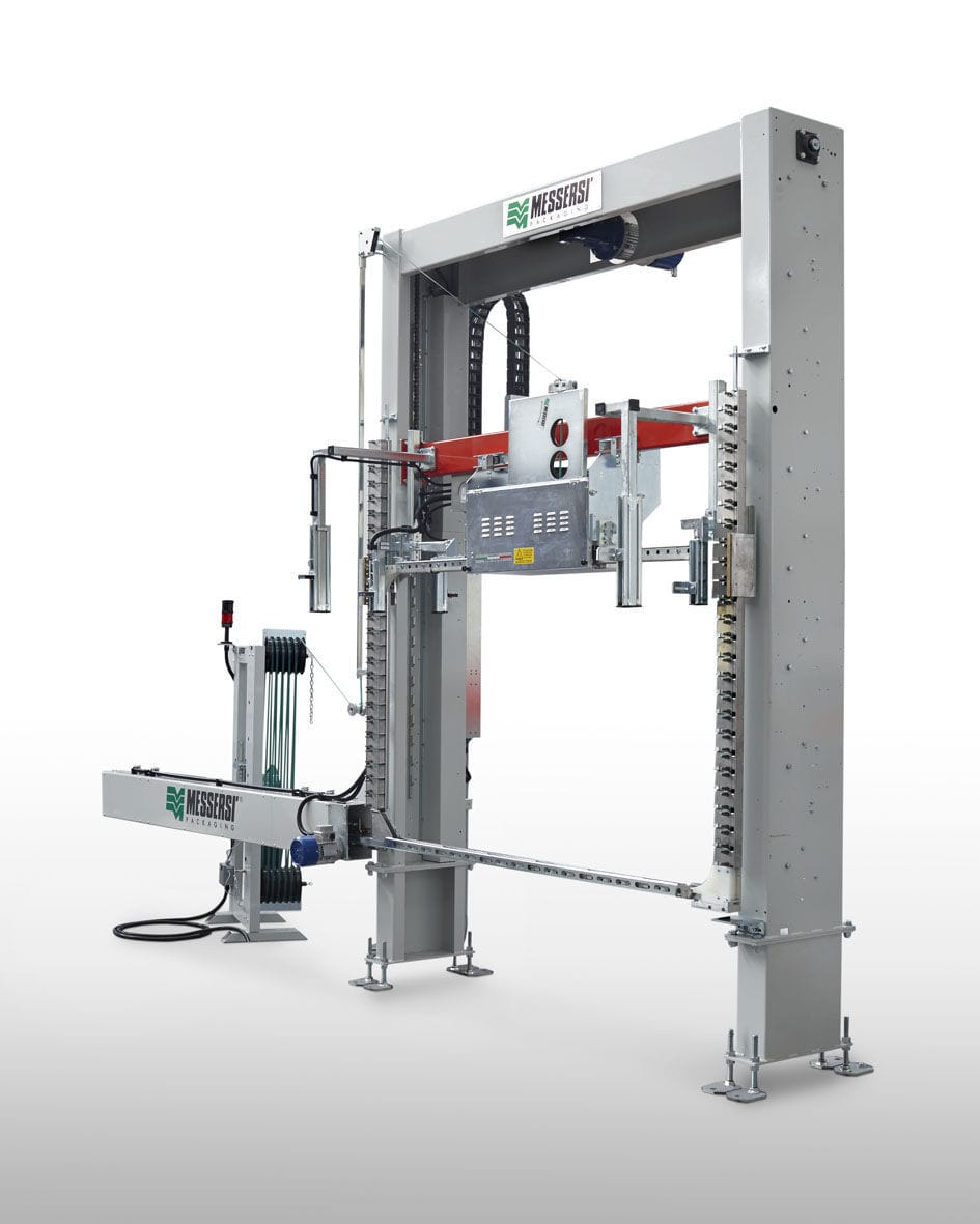 Automatic strapping machine / vertical / pallet
